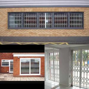 Electric shutter installation