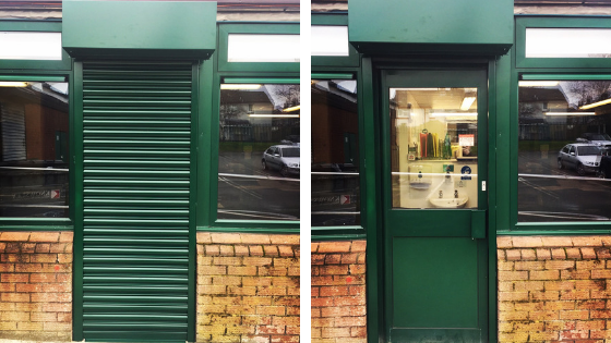Roller shutter maintenance for Activate Arts